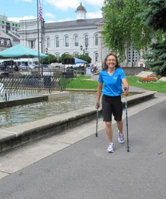 Kari on her poling walk.